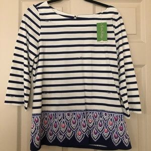 NWT Lilly Pulitzer Waverly top.  Bright Navy